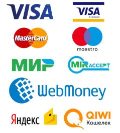 Интернет-магазин принимает как оплате пластиковые карты VISA, сбербанк-онлайн