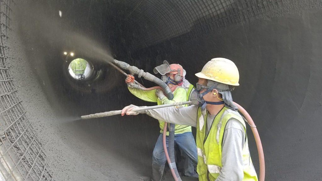 Нанесение торкрет бетона ВосЦем