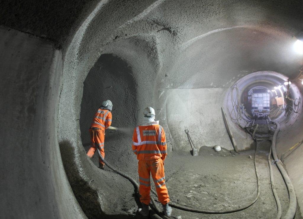 Торкретирование шахт
