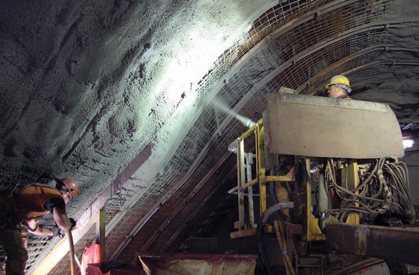 Нанесение бетона торкретированием